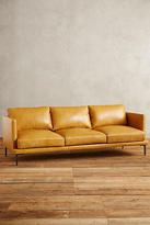 Anthropologie Premium Leather Linde Sofa