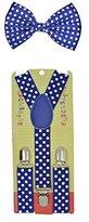 Coool Baby Toddler Kids Children Boys Girls Blue Polka Dot Bow Tie & Suspender Set