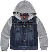 Arizona Denim Button-Front Hoodie - Preschool Boys 4-7