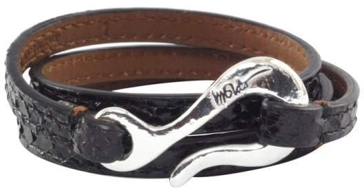 Ippolita Sterling Silver Black Python Leather Wrap Bracelet