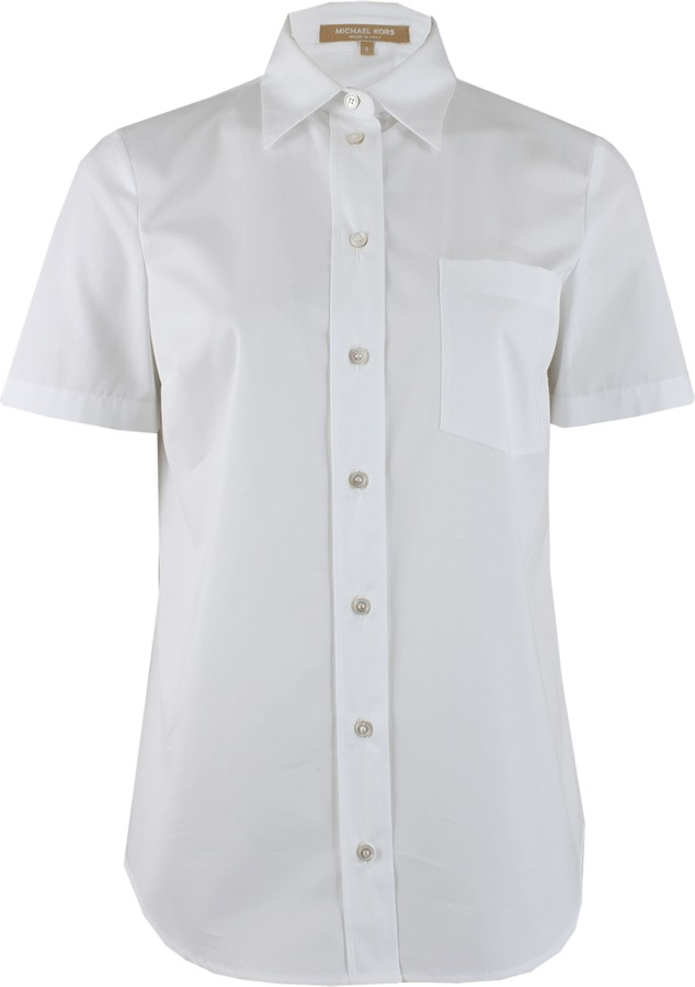 Michael Kors Short Sleeve Button Front Shirt