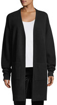 Diane von Furstenberg Long-Sleeve Open-Front Knit Cashmere Cardigan Sweater
