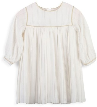 Chloé Baby's, Little Girl's & Girl's Lurex Striped Pleated Crepe Dress