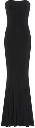 Norma Kamali Fishtail strapless jersey gown