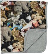 Molo Neala Reversible Friends Forever Stuffed Animal Blanket, Gray