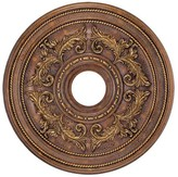 Livex Lighting Ceiling Medallion in Crackled Greek Bronze Size: Small