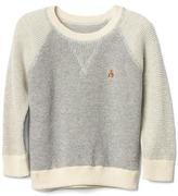 Gap Waffle-knit baseball sweater