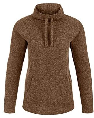Tribal Long Sleeve Raglan Cowl Neck Top (Coffee) Women's Sweater