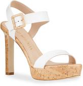 Stuart Weitzman Alesha Patent Cork Platform Sandals