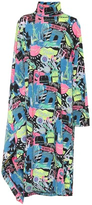 Balenciaga Printed cotton-jersey midi dress