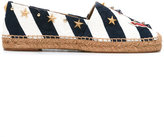 Dolce & Gabbana anchor striped espadrilles - women - Cotton/Raffia/Leather/metal - 37