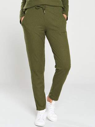 Very Ribbed Snit Slim Co Ord Joggers - Khaki