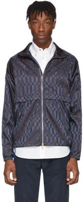 Paul Smith Navy Check Windbreaker Jacket