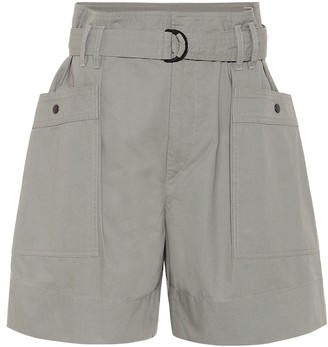 Etoile Isabel Marant Zayna high-rise cotton shorts