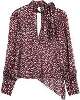 Palones Printed lame-weave chiffon blouse