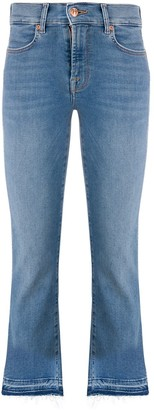 7 For All Mankind distressed high rise jeans