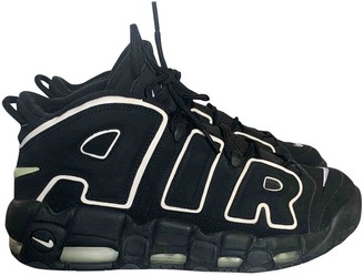 Nike More Uptempo Black Suede Trainers