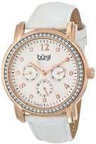 Burgi Women's BUR083RGW Analog Display Japanese Quartz White Watch