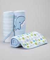 SpaSilk Blue Whale Terry Hooded Towel Set