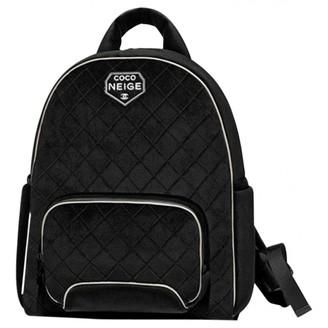 Chanel Black Velvet Backpacks