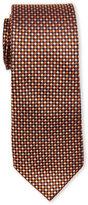 Pierre Cardin Checked Natte Slim Silk Tie
