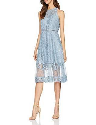 Little Mistress Alexina Blue Lace Midi Dress