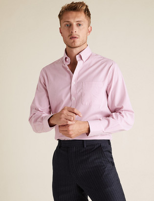 Marks and Spencer Regular Fit Pure Cotton Oxford Shirt