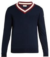Moncler V-neck Cotton Sweater