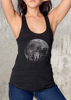 Etsy Moon and Pine Trees Women's Racer Back Tank Top - American Apparel Tri-Blend Tank - Available in XS,