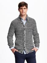 Old Navy Mock-Neck Wool-Blend Cardigan for Men