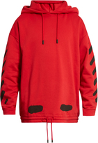 Off-White Logo-print hooded cotton sweatshirt