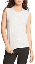 Halston Ribbed Jersey Top