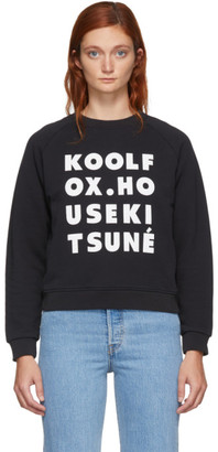 MAISON KITSUNÉ Black Kool Fox Sweatshirt