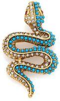 Kenneth Jay Lane Crystal & Resin Snake Brooch