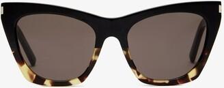 Saint Laurent Cat-eye Tortoiseshell-acetate Sunglasses - Tortoiseshell