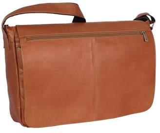 David King & CO Leather East West Full Flap Messenger Bag