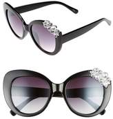 BP Women's Crystal Cat Eye Sunglasses - Black
