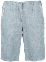 Dondup frayed trim shorts - women - Silk/Cotton/Linen/Flax - 40