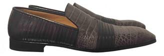 Saint Laurent Grey Leather Flats