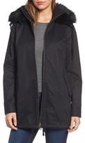 Sam Edelman Women's Faux Fur Collar A-Line Anorak