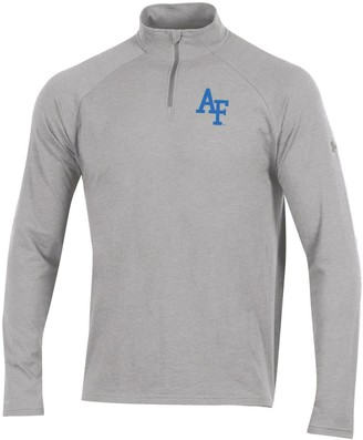 Under Armour Men's Heathered Gray Air Force Falcons Charged Cotton Quarter-Zip Jacket