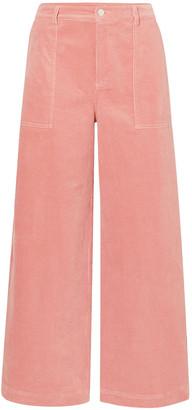 Ganni Cotton-blend Corduroy Wide-leg Pants