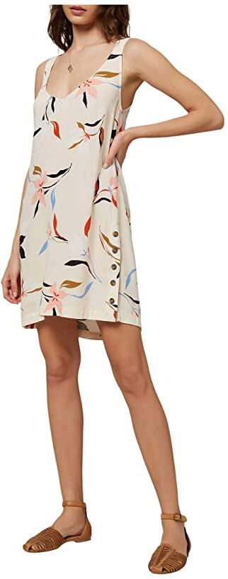 O'Neill Phan Floral Dress (Vanilla Cream) Women's Clothing