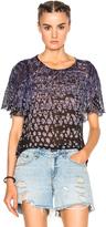 Raquel Allegra Petal Sleeve Top