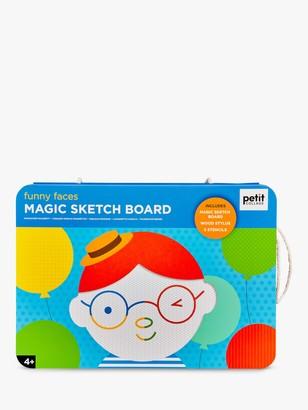Petit Collage Funny Faces Magic Sketch Board