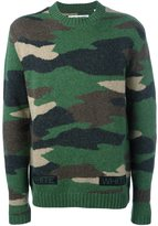 Off-White camouflage jumper