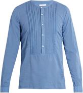 Boglioli Collarless cotton shirt