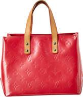 Louis Vuitton Pink Monogram Vernis Leather Reade Pm