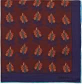 Prada Men's Botanical-Print Silk Twill Pocket Square