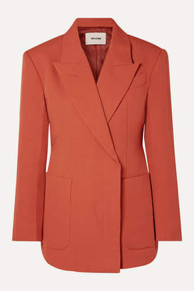 we11done Double-breasted Woven Blazer - Orange